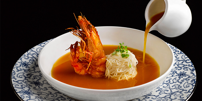Tiger Prawn Vermicelli, Superior Broth, Chinese Wine from Man Fu Yuan in InterContinental Singapore in Bugis, Singapore