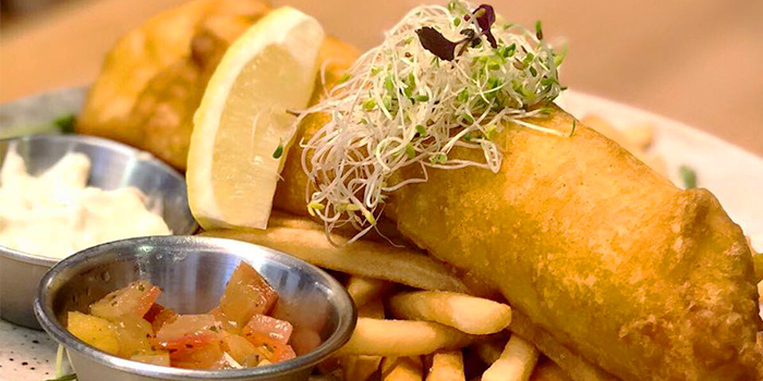 Fish & Chips from Old Hen Kitchen in Little India, Singapore