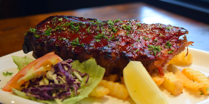 BBQ Pork Ribs from Red Noodle & Bottle Bar at Galaxis in Buona Vista, Singapore