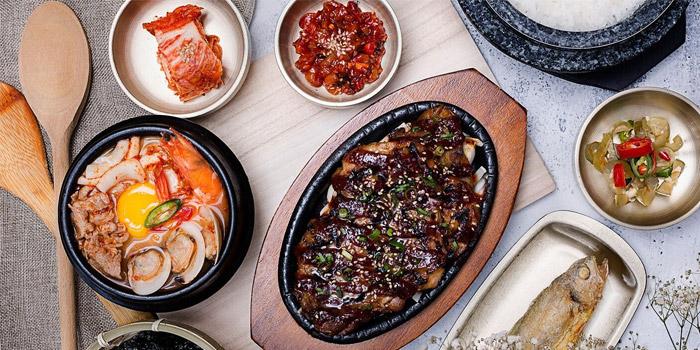 Assorted Soontofu and LA Galbi from SBCD Korean Tofu House (Tanjong Pagar House) at Tanjong Pagar House in Tanjong Pagar, Singapore