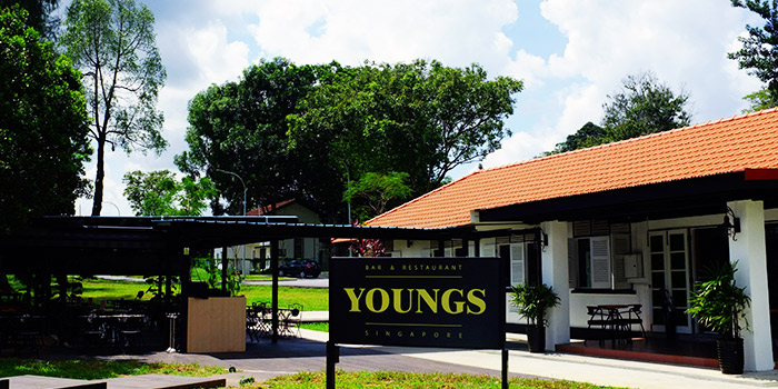 Exterior of YOUNGS Bar & Restaurant in Seletar, Singapore