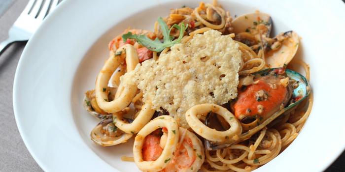 Spaghetti Seafood from Ceilo Sky Bar & Restaurant at W District Sukhumvit 69-71, Sukhumvit Rd Phra Khanong Nua Wattana, Bangkok