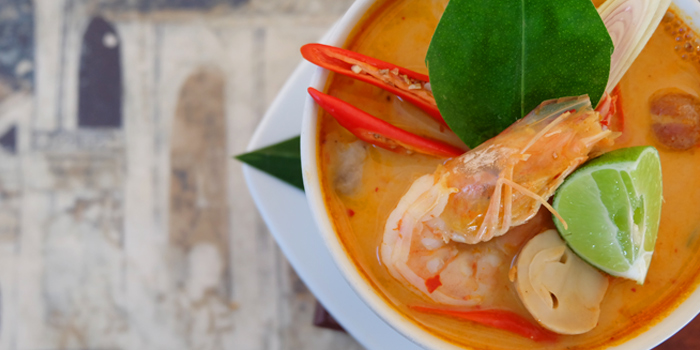 Tomyum Kung from Ocean Best Restaurant in Patong, Phuket, Thailand.