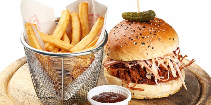 Bacon Burger from Flip Side in Rawai, Phuket, Thailand