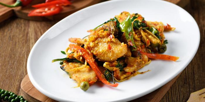 Choo Chii Sea Bass from TaLatChan by Baan Khanitha at FoodWalk zone, Level 1 Mega Bangna Shopping Mall Bangkok