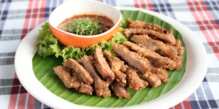 Crying Pork from Somtum Der at Soi Sukhumvit 55 Khlongton Nua, Watthana Bangkok