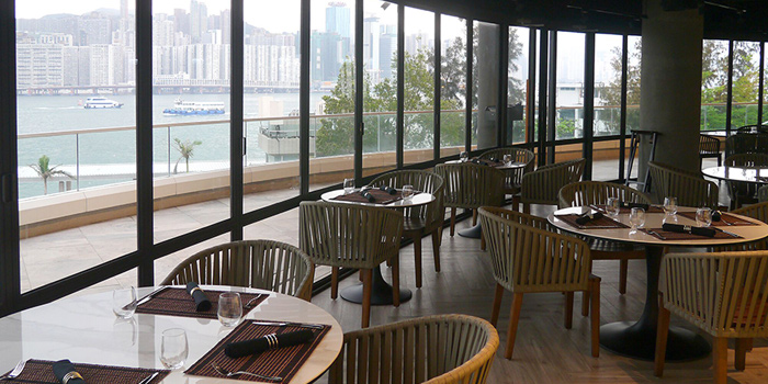Dining Area with Harbour View, Bong - Italian Restaurant, Hung Hom, Hong Kong
