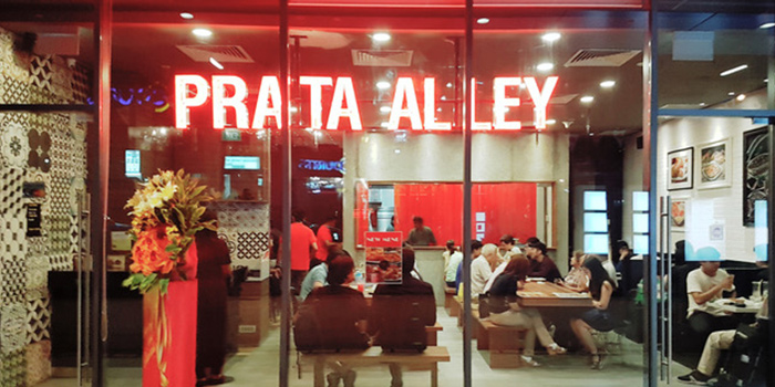 Exterior of Prata Alley in Clementi Singapore