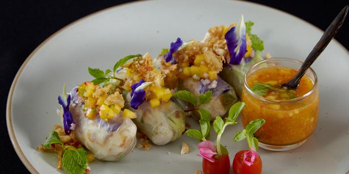 Fresh Spring Roll from Saffron at Banyan Tree Bangkok in Sathorn, Bangkok