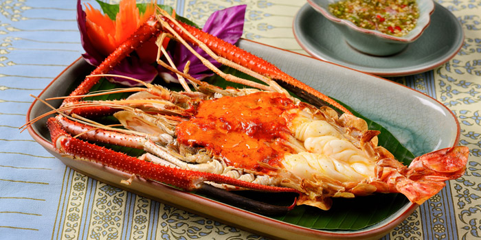 Grilled River Prawn from Baan Khanitha by the Rive at Charoen Krung Rd Wat Phraya Kra, Bang Kho Laem Bangkok