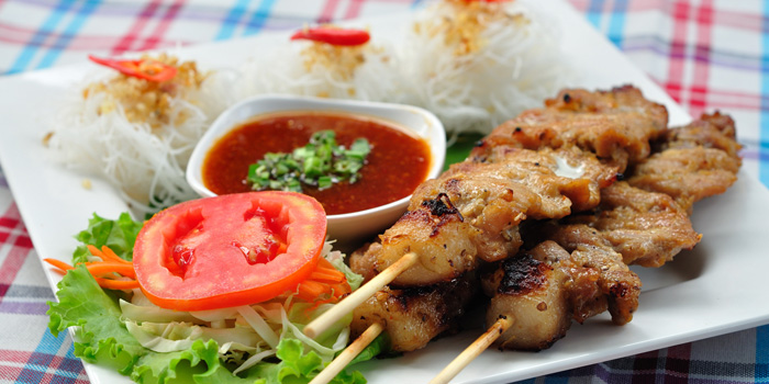 Pork Skewers from Somtum Der at 5/5 Saladaeng Rd Silom, Bang Rak Bangkok