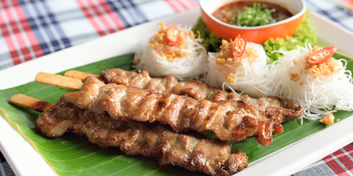 Pork Skewers from Somtum Der at Soi Sukhumvit 55 Khlongton Nua, Watthana Bangkok