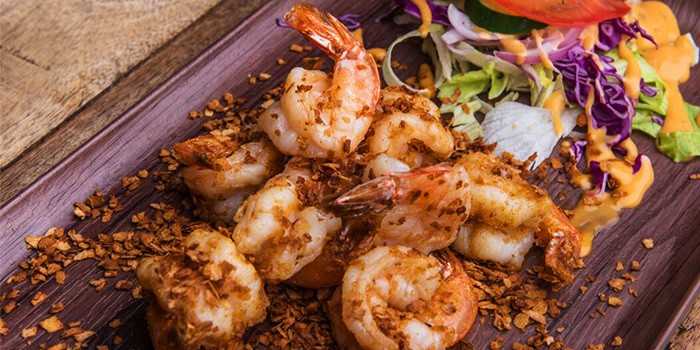 Cereal Prawns from Beer Factory in Raffles Place, Singapore