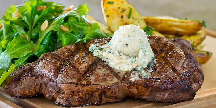 Steak from California Pizza Kitchen at Claymore Connect in Orchard, Singapore