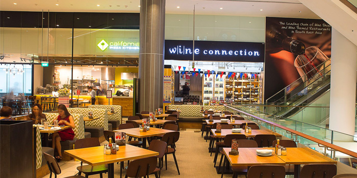 Interior of California Pizza Kitchen at Claymore Connect in Orchard, Singapore