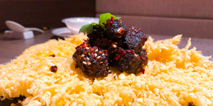 Beef Cubes with Fried Sweet Corn from Chengdu 成都 in Telor Ayer, Singapore