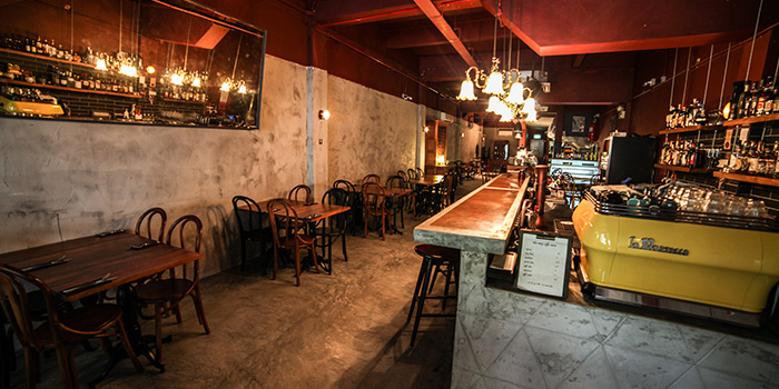 Interior of Claypots Full Circle in Chinatown, Singapore