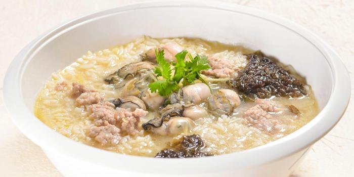 Minced Meat & Oyster Porridge from Di Wei Teochew Restaurant in Seletar, Singapore