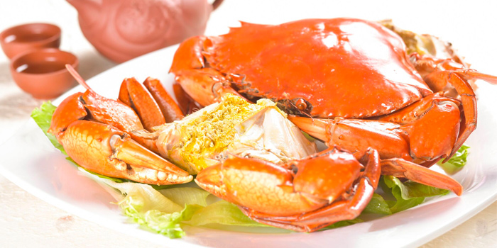 Teochew Cold Crab from Di Wei Teochew Restaurant in Seletar, Singapore