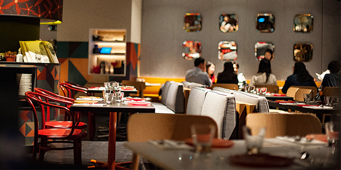 Main Dining Hall of FOC PIM PAM at Claymore Connect in Orchard, Singapore