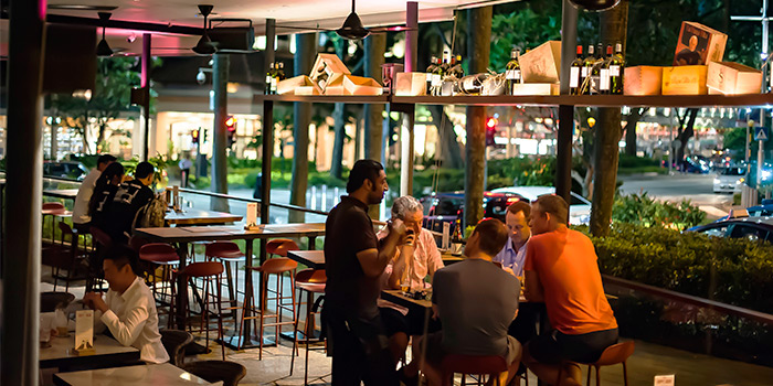 Terrace of FOC PIM PAM at Claymore Connect in Orchard, Singapore