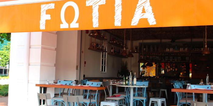 Exterior of Fotia in Club Street, Singapore