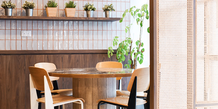 Interior of Full of Luck Restaurant in Holland Village, Singapore