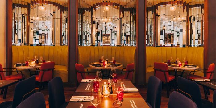 Dining Area of Ginett Restaurant & Wine Bar in Bugis, Singapore