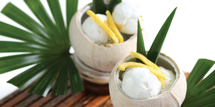 Coconut Ice Cream from Jim Thompson in Dempsey, Singapore