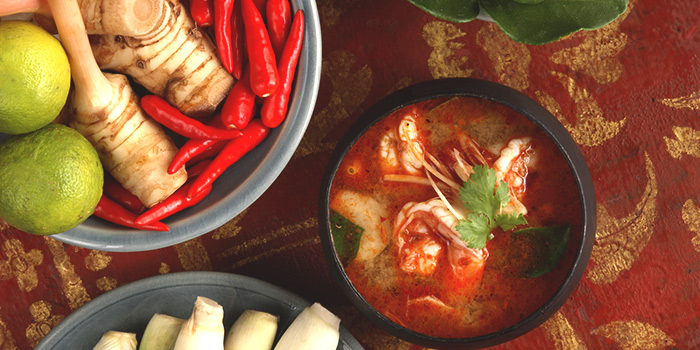 Tom Yam Goong from Jim Thompson in Dempsey, Singapore
