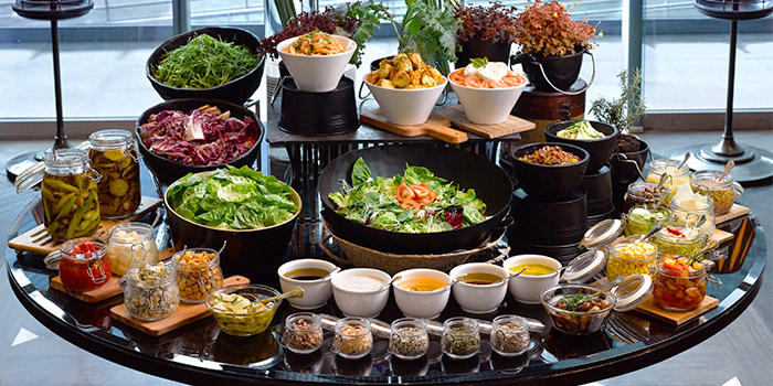 Salad Bar from La Brasserie in Fullerton Bay Hotel, Singapore