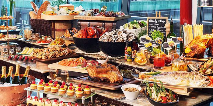 Sunday Brunch from La Brasserie in Fullerton Bay Hotel, Singapore