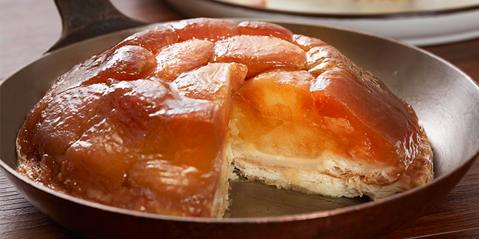 Tarte Tatin from La Brasserie in Fullerton Bay Hotel, Singapore