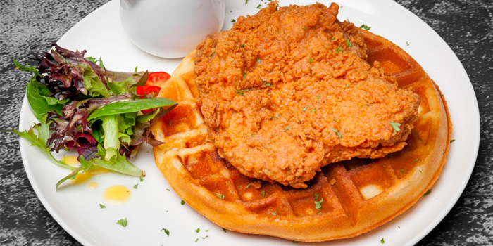 Buttermilk Chicken with Waffle from Roo