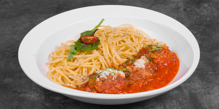 Chicken Meat Ball Marinara from Vibes Cafe (Mediacorp Campus) in Buona Vista, Singapore