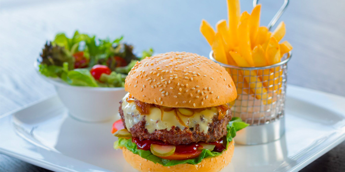 Mobley Beef Burger from The Garden Grille at Hilton Garden Inn Singapore Serangoon in Little India, Singapore