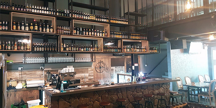 Interior of The Hideout at District 20 in Bishan, Singapore