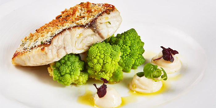 Crusted Red Snapper from The Lighthouse in Fullerton, Singapore