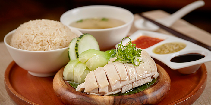 Hainanese Chicken Rice from Town at The Fullerton Hotel Singapore in Raffles Place, Singapore