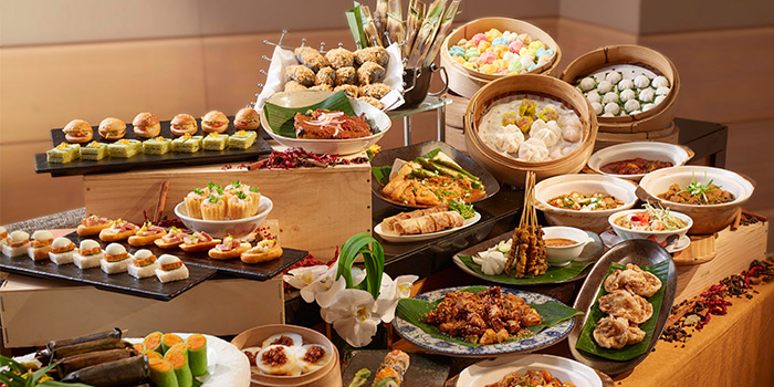 Singapore Local High Tea Buffet from Town at The Fullerton Hotel Singapore in Raffles Place, Singapore