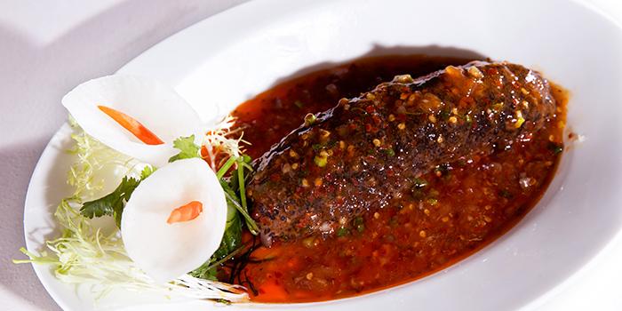 Sea Cucumber in Sichuan Chili Sauce, Dragon Gate Beijing Private Kitchen, Causeway Bay, Hong Kong