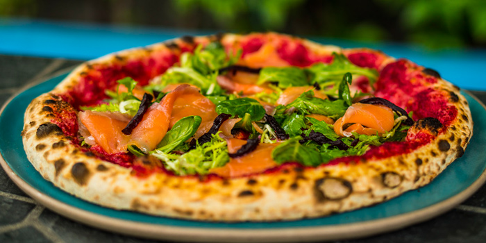 Smoked Salmon Pizza  from Pizza Massilia at Ploenrudee Building 1Fl. Soi Ruamrudee, Ploenchit Rd Lumpini, Pathumwan Bangkok