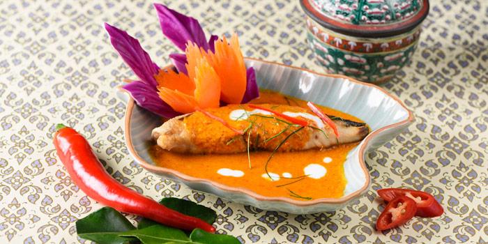 Snow Fish with Red Curry from Baan Kanitha & Gallery at South Sathorn Road Thung Maha Mek, Sathorn Bangkok