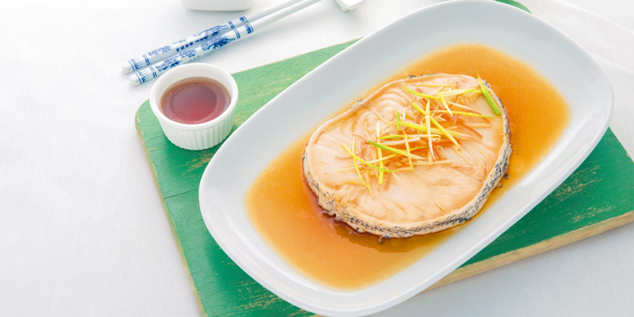 Steamed Snow Fish from Laem Charoen Seafood at Emquatier, 7 Flr. Unit 7A04, Sukhumvit Road Klongton-Nua, Wattana Bangkok