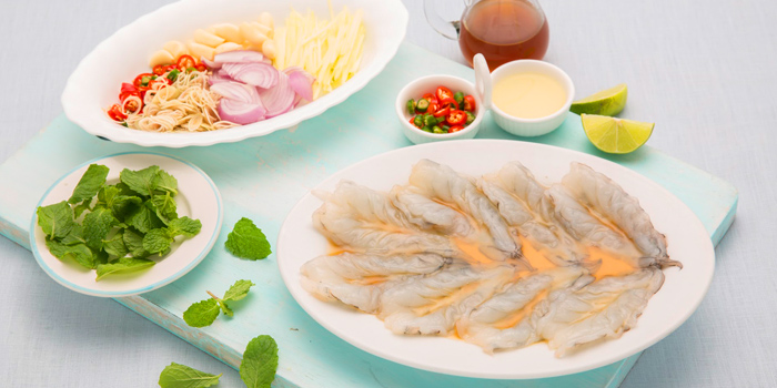 Thai Shrimp Cappacio from Laem Charoen Seafood at Silom Complex Basement Unit B14 Silom, Bangrak Bangkok