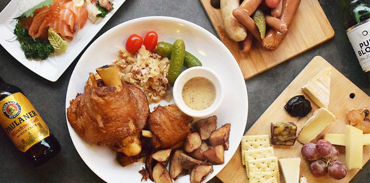 Food Spread from The Hideout at District 20 in Bishan, Singapore