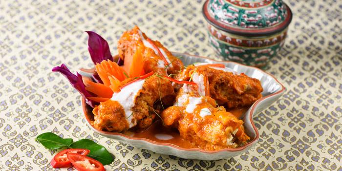 Soft Shell Crab with Curry from Baan Khanitha by the Rive at Charoen Krung Rd Wat Phraya Kra, Bang Kho Laem Bangkok