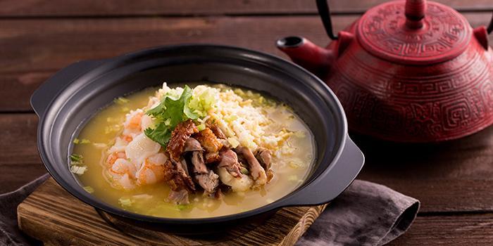 Seafood Rice in Aromatic Duck Soup, Forbidden Duck, Causeway Bay, Hong Kong