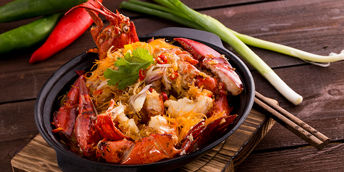 Lobster and Vermicelli with Black Tru e Har Mi XO, Forbidden Duck, Causeway Bay, Hong Kong