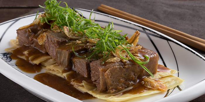 Stewed Beef Brisket with Bean Curd in Chu Hou Sauce, Forbidden Duck, Causeway Bay, Hong Kong